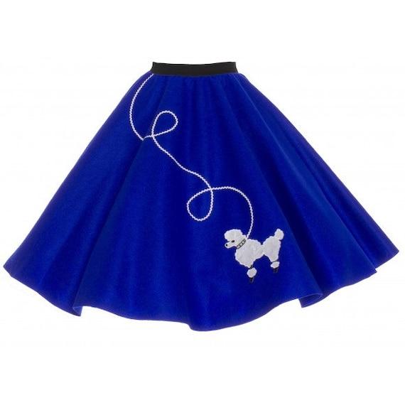 royal blue 50 s poodle skirt