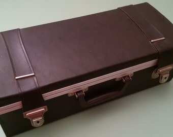 1970s 8-track tape collection in case