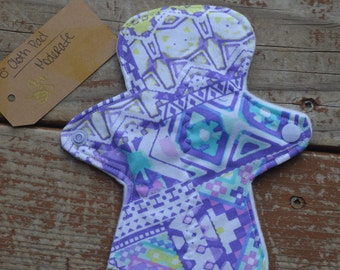 "SALE! 25% OFF Neon Aztec 8"" Moderate Cloth Pad"