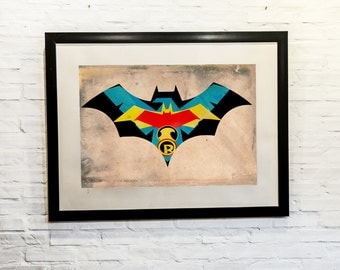 Bat Family,Batman Family,Gotham,comicsNerd, 11x14, Print, Artwork, Painting,Decor,Surreal,Art,Gift for Geek