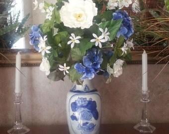 Silk Flower Arrangement Artificial Flower Arrangement Home Decor Table Centerpiece