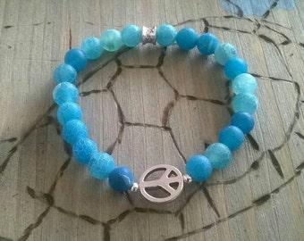 Bracelet ⭐ agate ⭐ blue