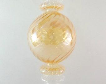 Yellow Christmas Glass Ornaments Ball  .