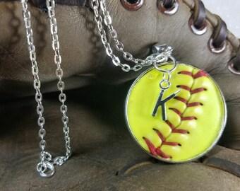 Softball Necklace, Softball Jewelry, Personalized Softball Necklace, Personalized Softball Jewelry, Softball Team Gifts,  Softball Jewelry