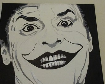 "Jack Nicholson 12""×12"" canvas"