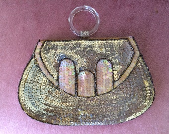 Sequined 1930's Evening Clutch Bag