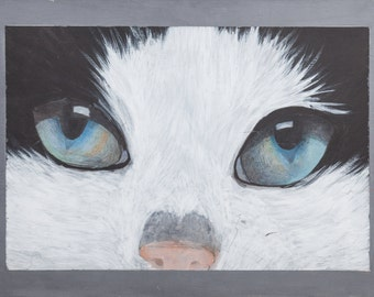 Acrylic painting print by me made, cat