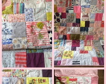 Baby, Keepsake, Memory, Quilt, Blanket, Baby Clothes, Cotbed size
