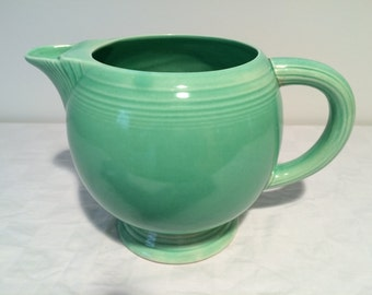 Vintage Fiestaware Pitcher - Ice Lip in Green
