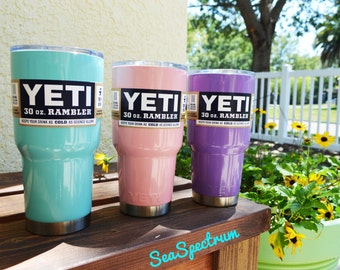 30oz Powder Coated YETI  SeaSpectrum