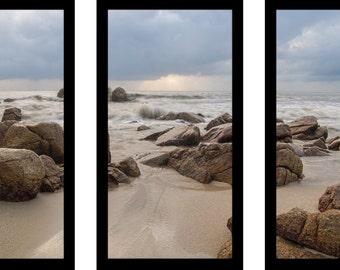 Sandy Beaches - Framed Plexiglass Wall Art