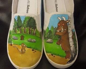 The gruffalo custom painted hand painted shoes infant size 10 uk
