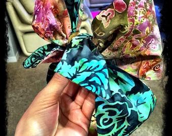 Dark Floral Print Head Wrap