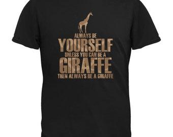 Always Be Yourself Giraffe Black Youth T-Shirt