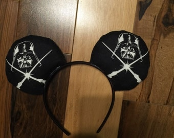 Star Wars Glow In the Dark Ears, Star Wars Mickey Ears, Custom Disney Inspired Minnie Ears
