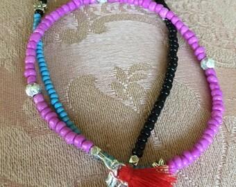 3 colored Bracelet-Beautieandthebead, Boho, Friendship, Hippie chic