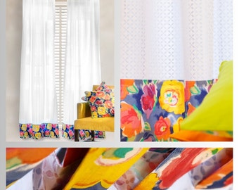 Spring Burst Curtains and Pillow Covers