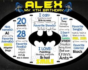 Batman Birthday Chalkboard