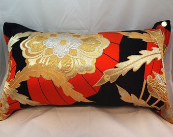 Cushion of Obi (Kimono) Japanese Silk  0000032