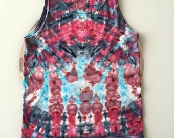 Tie Dye Handcrafted Tank Top Size: Small