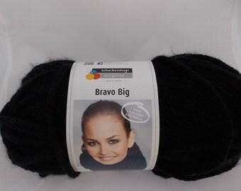 Black yarn, super chunky, knitting yarn, crochet yarn, Schachenmayr Bravo Big Color, super bulky yarn, cheap yarn, yarn lot, roving yarn