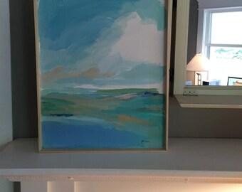 Abstract Coastal Painting-Acrylic