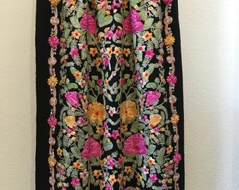 Premium Flower Embroidered Pashmina Shaw