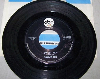"1960's Tommy Roe Hit On 45 rpm Record, ""Sweet Pea"""