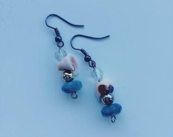 Mermaid/ocean inspired dangle earrings