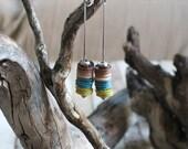 long earrings, leather earrings, customized earrings