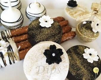 Cake Pops, Oreos, Pretzels, Wedding, Bridal Shower assortment (4 DOZEN)