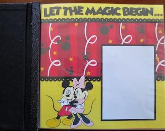 Complete Disney Scrapbook Album - 12X12 - Designed To Order