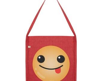 Tongue Out Emoji Tote Bag