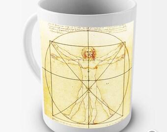 Da Vinci The Vitruvian Man Ceramic Tea Mug