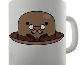 Bowler Hat Ceramic Funny Mug