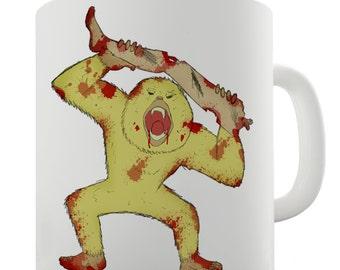 Zombie Monkey Ceramic Mug