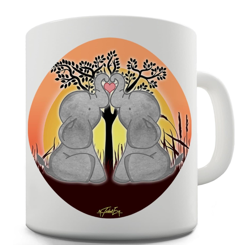 Elephant trunk heart ceramic funny mug for Elephant heart trunk