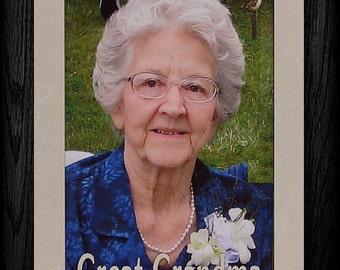 5x7 JUMBO ~ Great GRANDMA/GRANDPA/Grandparents Portrait Frame ~ Holds 5x7 Photo ~ Frame for a loved Great Grandma or Great Grandpa Picture!