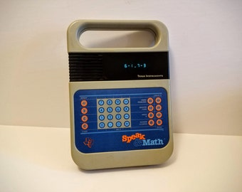 Vintage Toy - Speak & Math, 1980s Texas Instruments