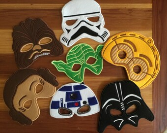 Star Wars embrodiery/felt face masks two sizes child and adult