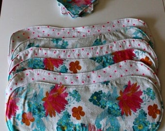 Floral Burp Cloth Set