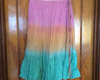 Vintage 1970s Tye Dyed Maxi Skirt