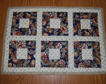 Sunflower Squares Quilted Placemats