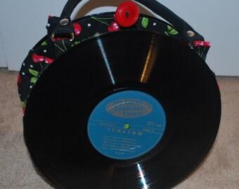 Handmade Record purse 10 inch