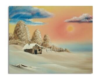 Winter Cabin (16x20)