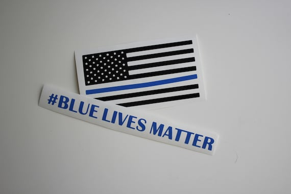 Blue Lives Matter Decal Stickers Police American Flag