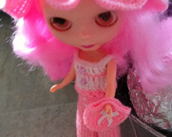 Baby pink suit for Blythe