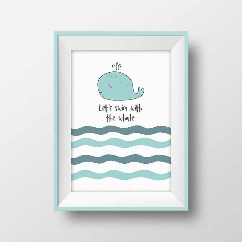 bathroom nursery wall art baby boy printable quote blue. Black Bedroom Furniture Sets. Home Design Ideas
