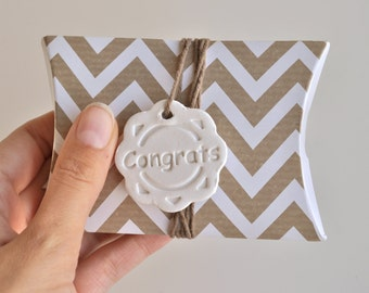 Congrats gift tags - pack of 5 - birthday gift tag,  anniversary gift tag, birth gift tag, all occasion tags, congratulations clay gift tags