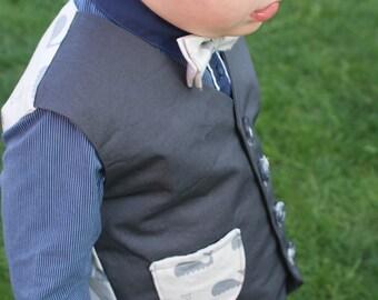 Waistcoat Boys Size 3 Handmade 100% Cotton **SALE**